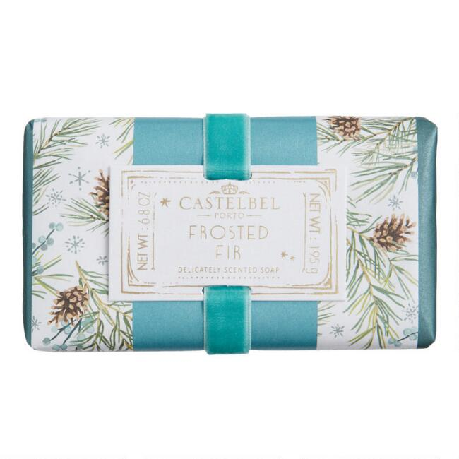 Castelbel Green Frosted Fir Velvet Woods Bar Soap