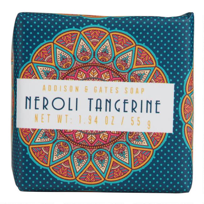 A&G Medallion Mini Neroli and Tangerine Bar Soaps Set of 3