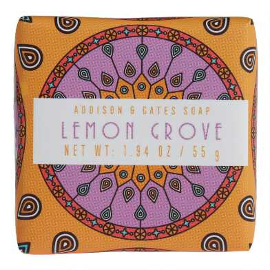 A&G Medallion Mini Lemon Grove Bar Soaps Set of 3