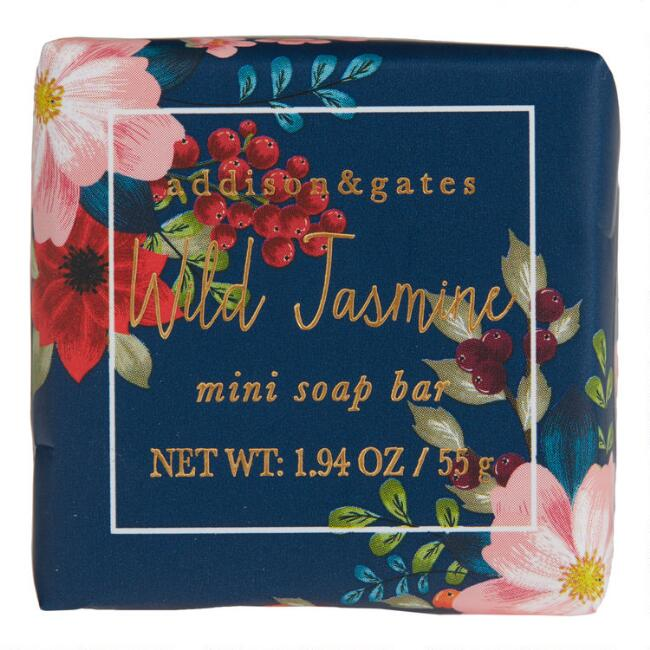 A&G Winter Floral Mini Wild Jasmine Bar Soaps Set of 3