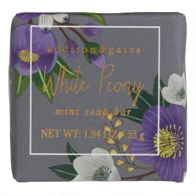 A&G Winter Floral White Peony Bar Soaps Set of 3