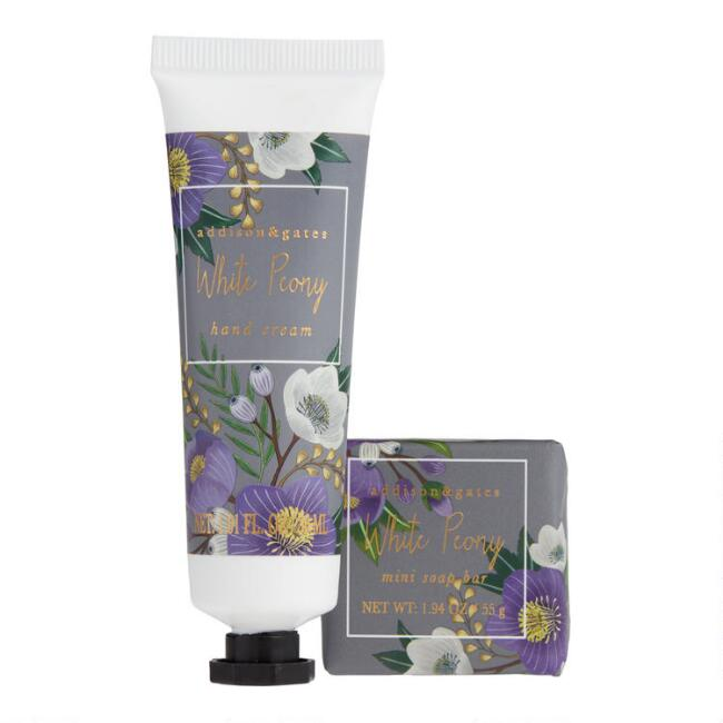A&G Winter Floral White Peony Hand Care Collection
