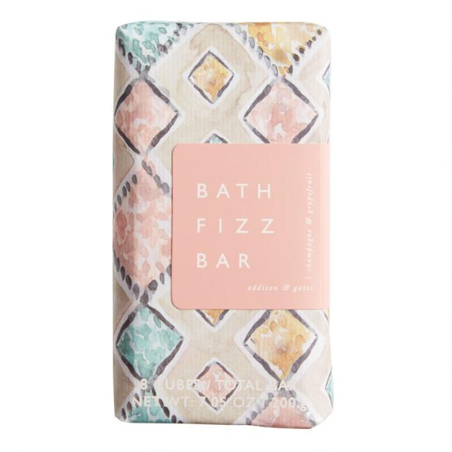 A&G Watercolor Champagne and Grapefruit Bath Fizz Bar