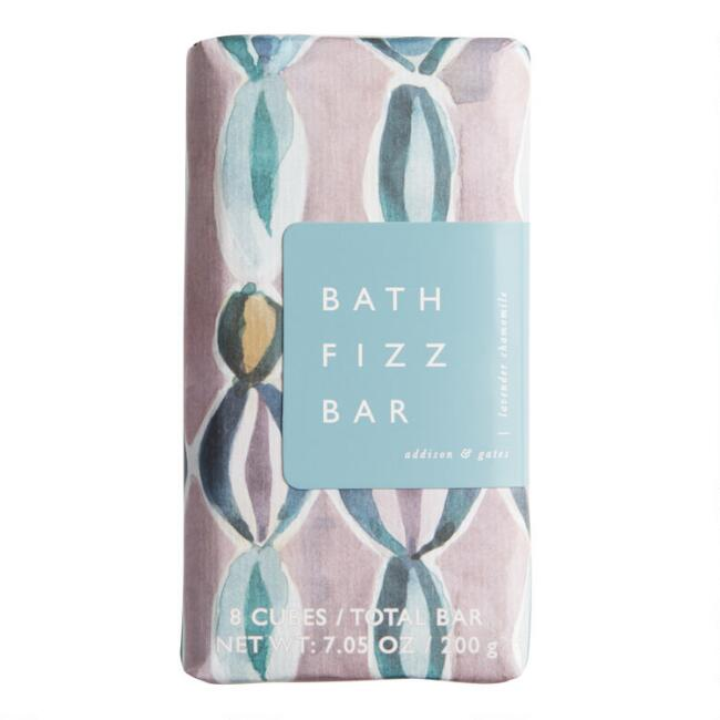 A&G Watercolor Lavender and Chamomile Bath Fizz Bar