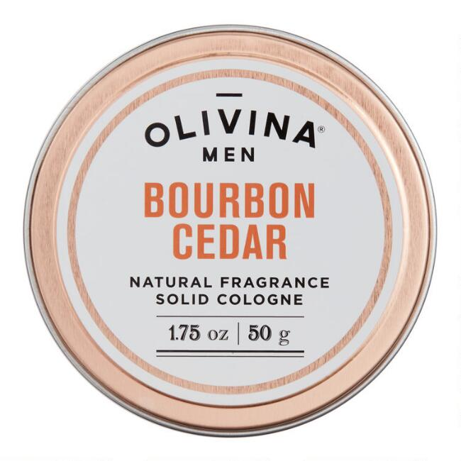 Olivina Men's Bourbon Cedar Solid Cologne