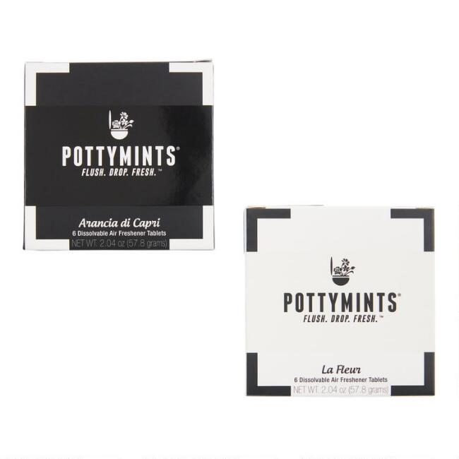 Pottymints Toilet Air Freshener Tablets Collection
