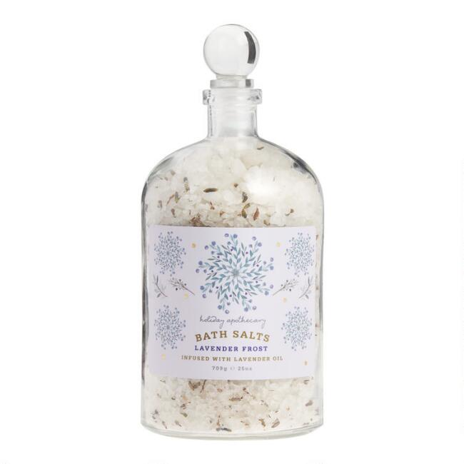 Holiday Apothecary Lavender Frost Botanical Bath Salts