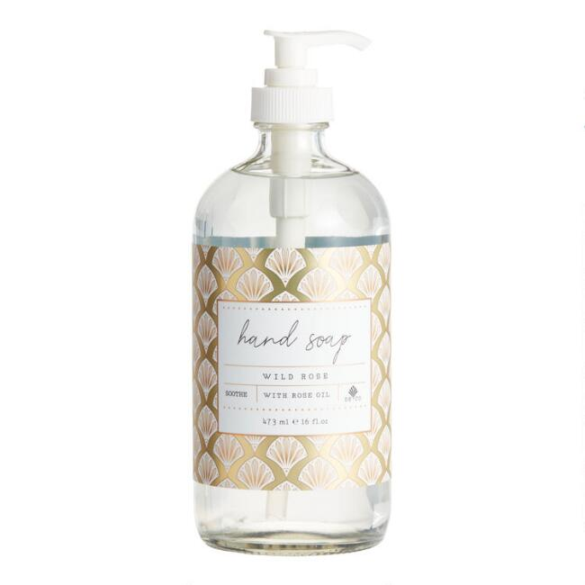 Holiday Gold Deco Rose Liquid Hand Soap