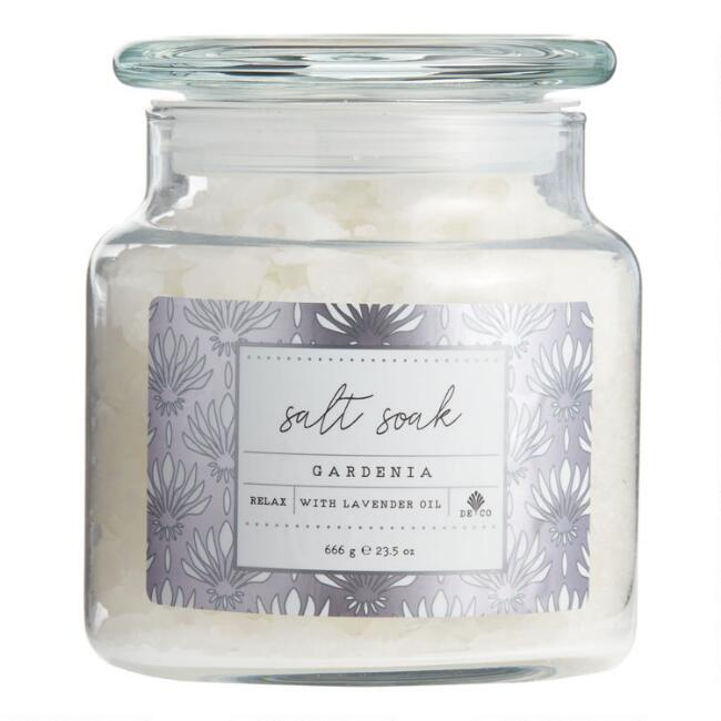 Holiday Silver Deco Gardenia Bath Salts