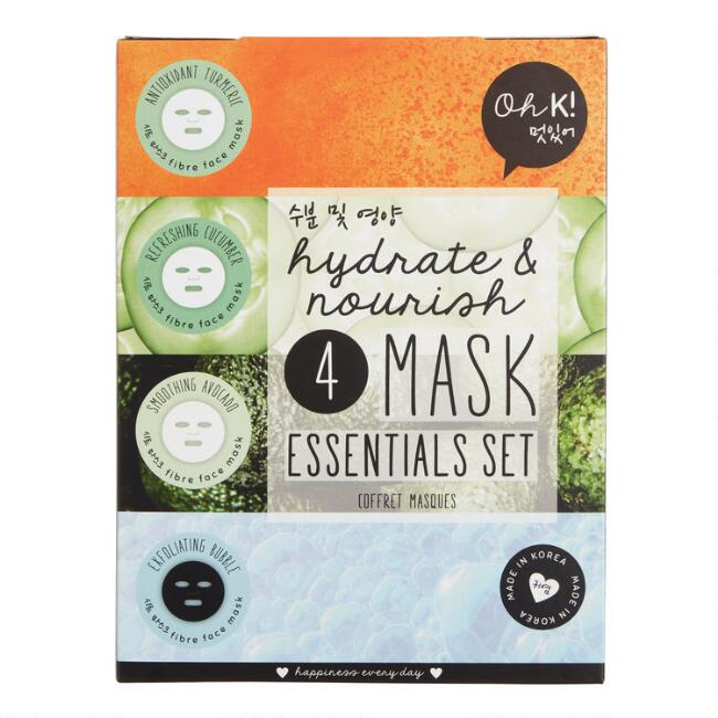 Oh K! Korean Beauty Hydrate & Nourish 4 Piece Face Mask Set