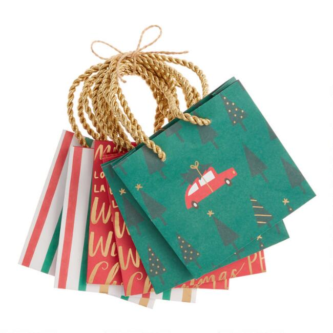 Mini Assorted Holiday Gift Bags 6 Pack