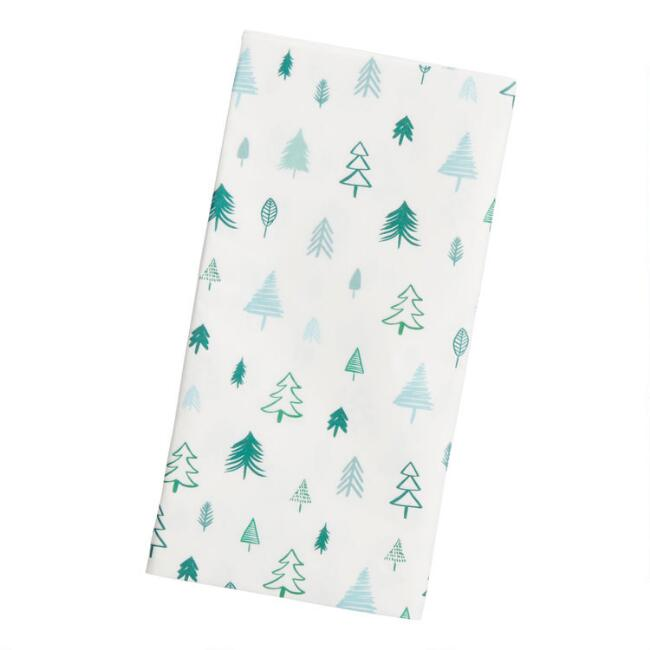 4 Pack Green And Blue Tree Tissue Paper Set Of 2