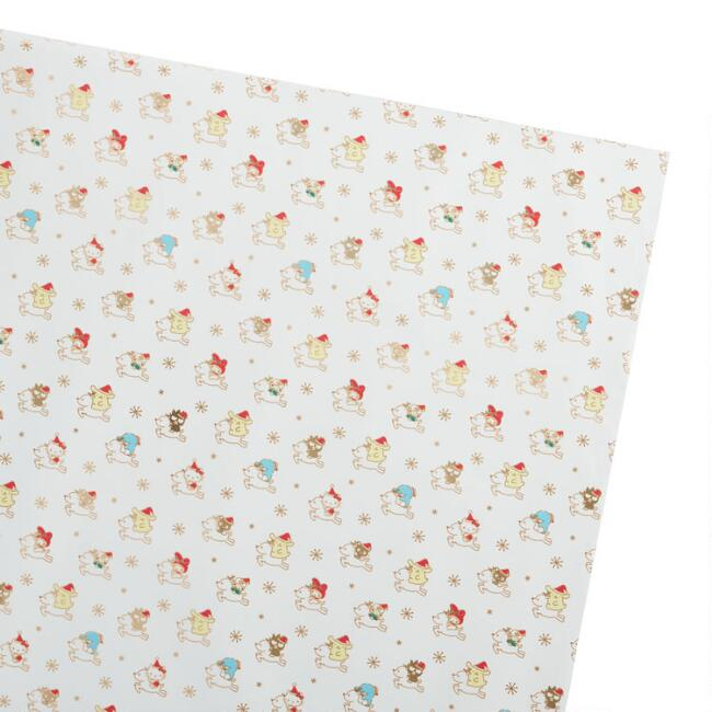Hello Kitty Reindeer Holiday Wrapping Paper Roll