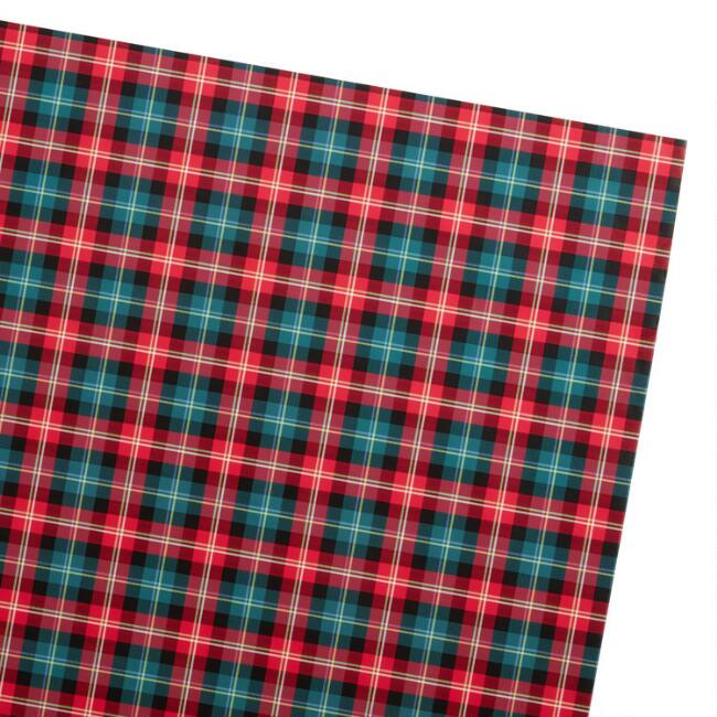 Red And Green Plaid Holiday Wrapping Paper Roll
