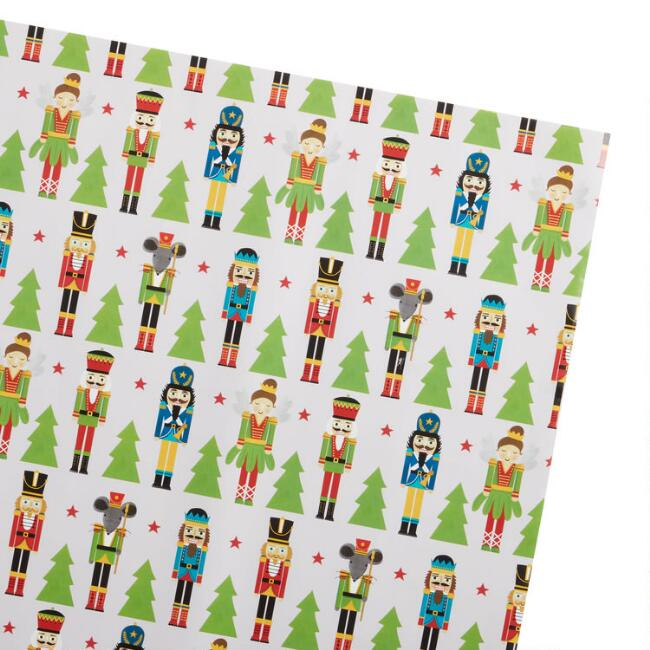 Nutcracker and Tree Holiday Wrapping Paper Roll
