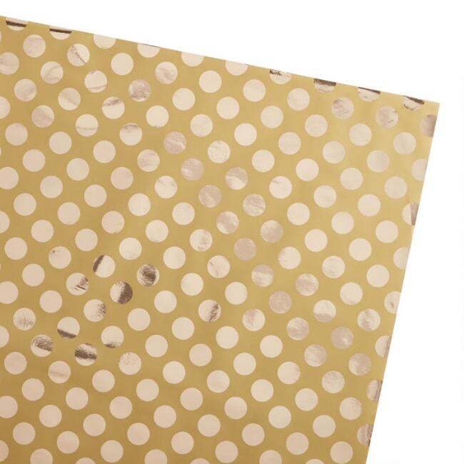 Gold Circle Holiday Jumbo Wrapping Paper Roll
