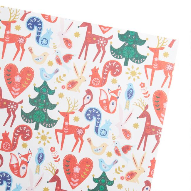 Woodland Creatures Holiday Gift Wrap