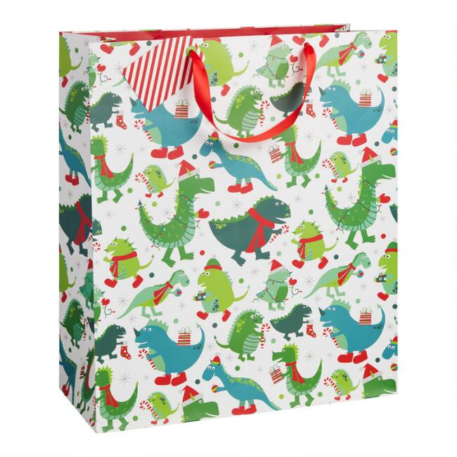 Extra Large Dinosaurs Holiday Gift Bag