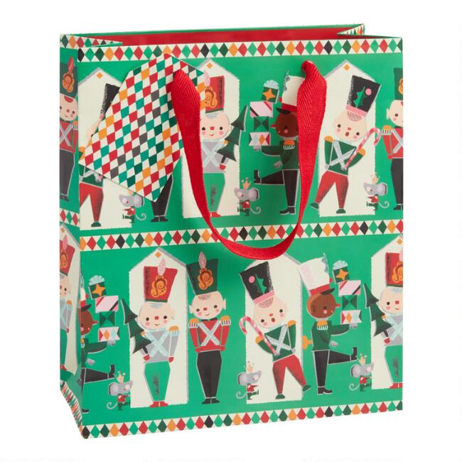Medium Toy Soldiers Holiday Gift Bag