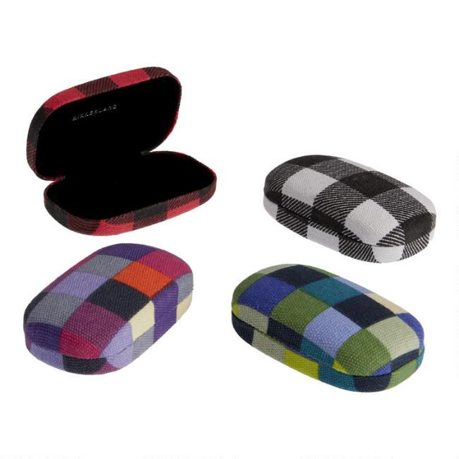 Small Kikkerland Checkerboard Fabric Travel Case Set of 4