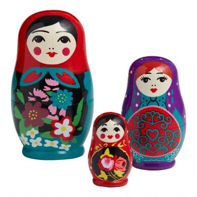 Russian Nesting Dolls 3 Piece Set