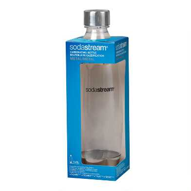 SodaStream® 1L Slim Stainless Steel Carbonating Water Bottle