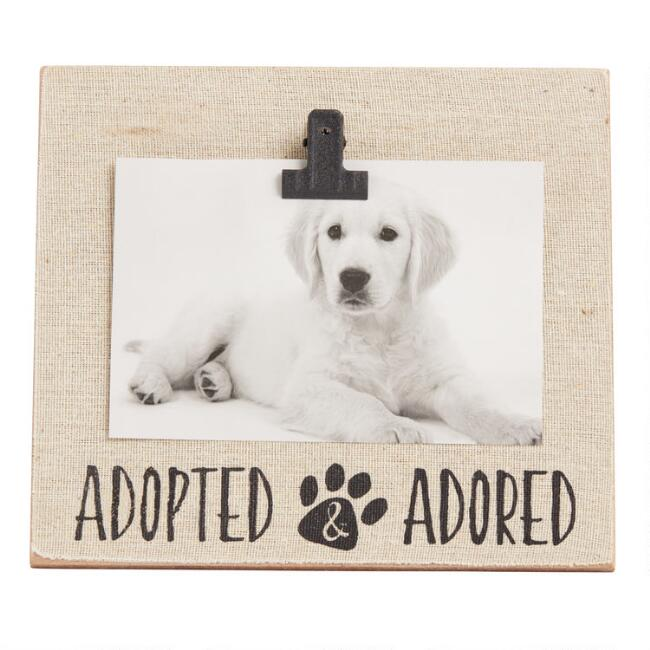 Linen Adopted and Adored Clip Frame