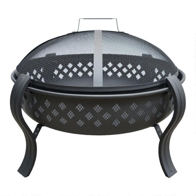 Black Mini Diamond Fire Pit