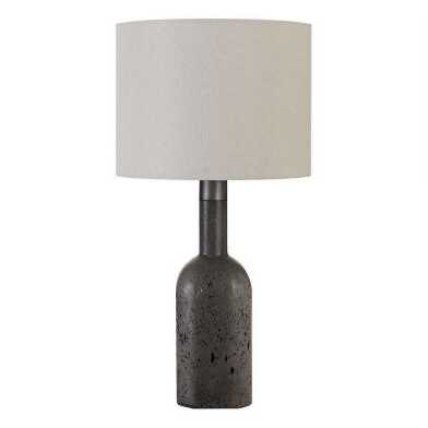 Gray Glass Bottle Carrie Table Lamp