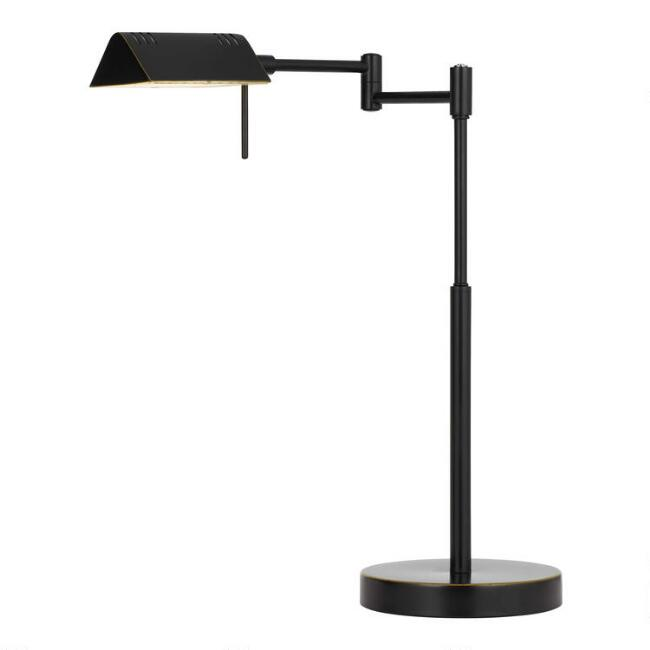 Dark Bronze LED Adjustable Pharmacy Table Lamp