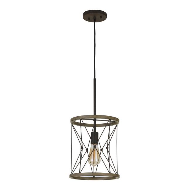 Distressed Ivory Metal Siobhan Pendant Lamp
