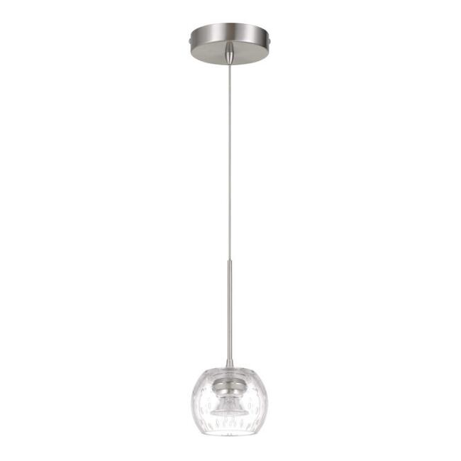 Clear Bubbled Glass LED Sonny Pendant Lamp