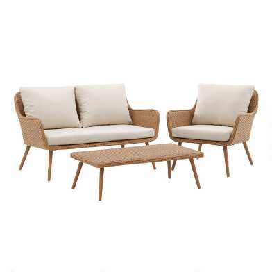 Oatmeal All Weather Wicker Simona Outdoor Seating Collection