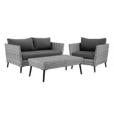 Gray All Weather Wicker Malique Outdoor Seating Collection