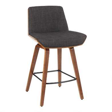 Mid Century Joel Upholstered Counter Stool