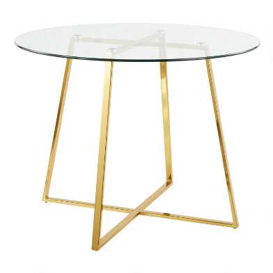 Round Glass Top Therese Dining Table