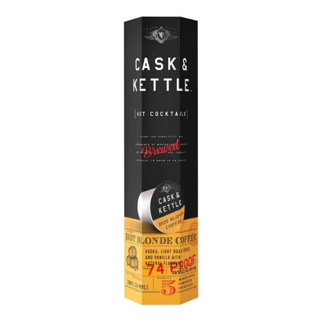 Cask and Kettle Hot Blonde Coffee Cocktail Pods 5 Count