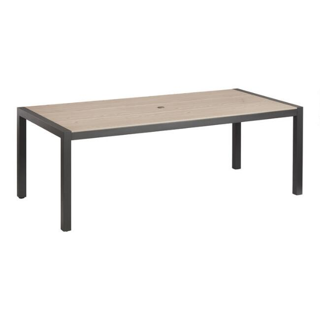 Duraboard and Aluminum Cordoba Outdoor Dining Table