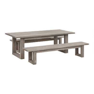 Graywashed Eucalyptus Marciana Outdoor Dining Collection