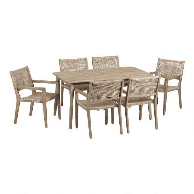 Sintra Outdoor Dining Table Collection with Catalina Chairs