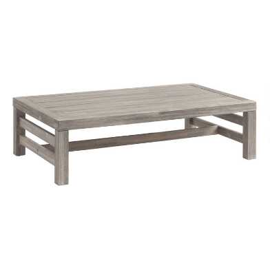 Graywashed Acacia Marciana Outdoor Coffee Table