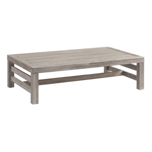 Graywashed Acacia Marciana Outdoor Occasional Coffee Table