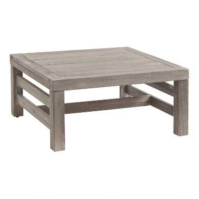 Graywashed Acacia Marciana Outdoor Side Table