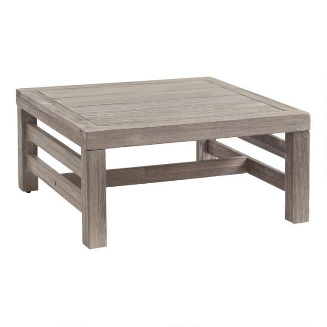 Graywashed Acacia Marciana Outdoor Occasional Side Table