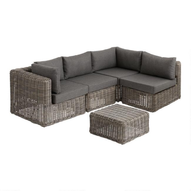 Gray Zahara Modular Outdoor Sectional Collection