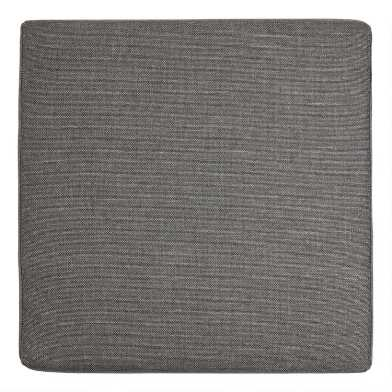 Gray Zahara Modular Outdoor Sectional Ottoman Cushion