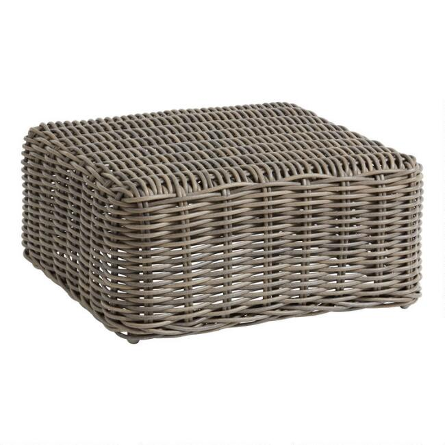 Gray Zahara Modular Outdoor Coffee Table