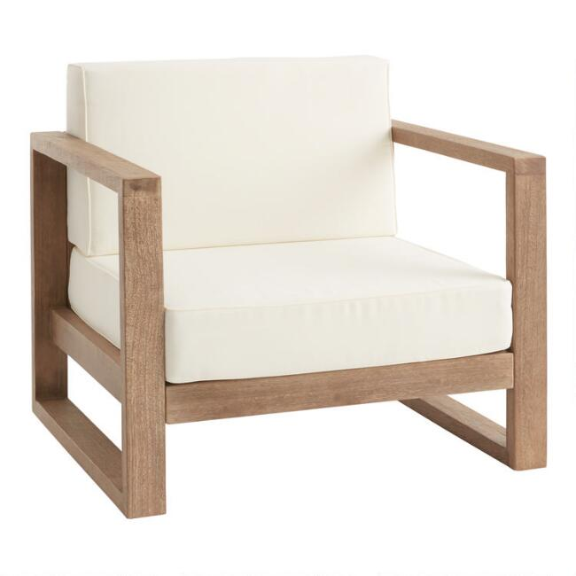 Light Brown Eucalyptus Segovia Outdoor Occasional Chair
