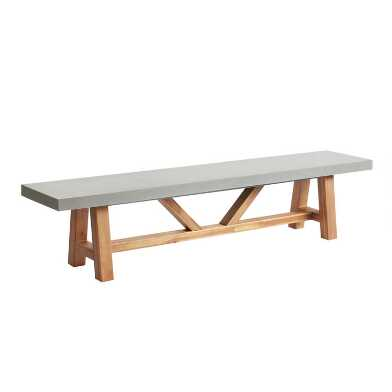 Faux Cement Palmera Outdoor Dining Bench