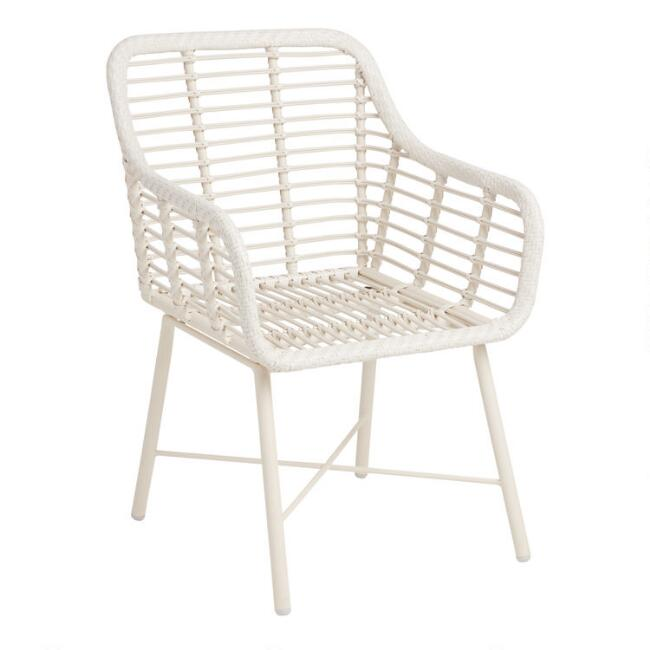 White Open Weave Salamanca Dining Armchair